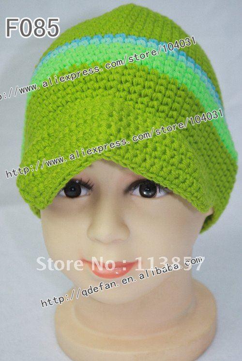 Free shipping (10pcs/lot) crochet newsboy green hats free knitting patterns baby beanie hat manufactures(China (Mainland))
