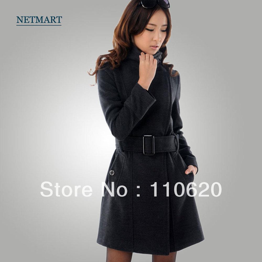 women , women fashion wool coat , ladies winter clothing Free Shipping