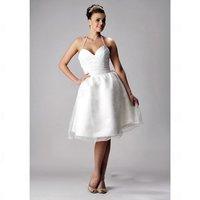 Free Shipping  Knee_length Sleeveless Satin Organza Dress BGH01218 Wedding Dresses Evening/Prom/Homecoming Quinceanera Dresses