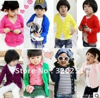 2014 free shipping 2013 new Children's clotheshan children thread cotton candy air conditioning cardigan coat jacket  tz133