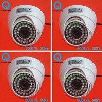 4 Pcs 600TVL SONY CCD Color Video Dome CCTV Surveillance Security Camera Indoor W93-6