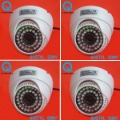 4 Pcs 600TVL SONY CCD Color Video Dome CCTV Surveillance Security Camera Indoor W93-6