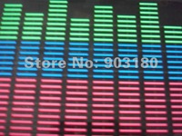 2012 popular hot selling DC12V car LED voice music rhythm luminescent decorative lights 90 cm * 25cm free shipping