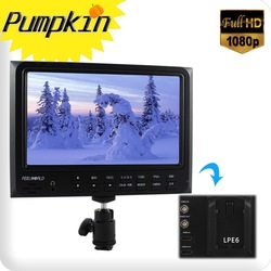 FEELWORLD High Resolution 1080P LCD On Camera Monitor HDMI In LP-E6 Adapter Sun hood Hot shoe F/Canon EOS Rebel 5D Mark 2 7D(China (Mainland))