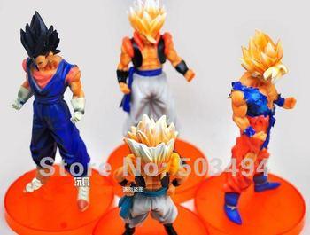 """Free shipping Anime Dragon Ball Z 5""""Songukou Gogeta Gotenks Action Figure toy ( 4 pcs/set )"""