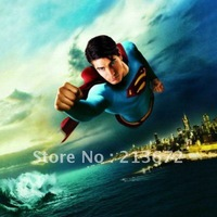 Free shipping Superman Costumes men Sexy Corset Lingerie Set/Faux Leather Leotard/cartoon character costumes/Wholesale.