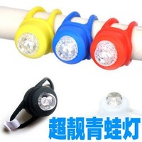 Front led Bicycle Light Waterproof Bike Safety Silica gel silicone Frame Light lamp