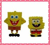 free shipping  Spongebob Rubber USB flash drive 2GB/4GB/8GB/16GB  32GB10pcs /lot  from factory
