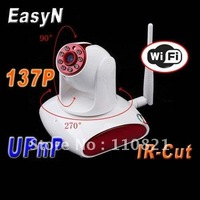 Free Shipping EasyN 137P WIFI Wireless Webcam IR Night Vison Security IP Camera Support 32G SD card local memory plug and play