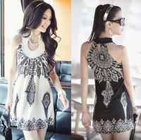 2012 New Bohemian Retro Totem sleeveless dress,Free Shipping