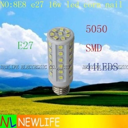 LED 5W E27 NAIL GEL CURING UV LAMP 9W 110V 16W CORN 44LEDS 5050SMD COB BULB LIGHT NO:8E8(Hong Kong)