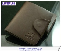 2014 new men GENUINE LEATHER vintage cross short section foldable Wallets purses card holder brand LIFEFUN LF06343