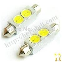 10* 12V 39mm SMD 2-LED C5W Festoon Bulbs Car Bulbs Rear lights, reading lights led car bulbs WHITE  BLUE can choose