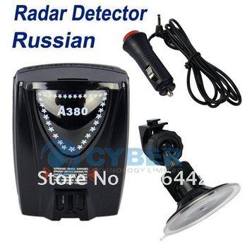 Free Shipping Full-band Russian Voice for GPS Navigator A380 Durable Car Radar Detectors