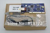 1 port T1/E1 card,ISDN PRI PCI card TE110P with free shipping TE110P ISDN PRI card, supports Asterisk digium