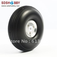 RC Airplane RC Airplane PU wheel with CNC Aluminum Hub 5.0'' (D127 x H46 x 6mm)