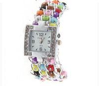 Sample Free Ship LiangCai Rhinestone Decoration Numerals & Strips Hour Marks Quartz Wrist Watch for women's watch1859 (Colorful)