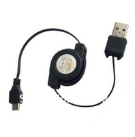 Retractable Micro USB Cable For Blackberry Sumsang Galaxy S2 i9100 HTC Motorola LG, 200pcs/lot, DHL Free Shipping