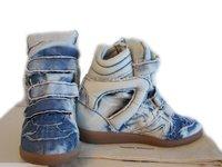 Isabel Marant Willow Tie Dye Blue Denim Bekkett Limited Edition Sneakers