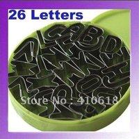 26PCS Letters Alphabet Shape Mould Fondant Cookie Biscuit Cake Mold Cutter+Box