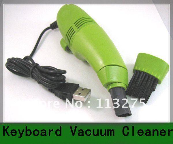 50pcs Computer Laptop PC Keyboard USB 2.0 green Vacuum Cleaner(China (Mainland))