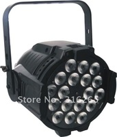Alu Tri Par 64 Black 18 x 4W Tri Colour Pro LED Stage Wash
