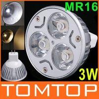 12V 3W MR16 / GU5.3  White LED Light Led Lamp Bulb Spotlight Spot Light Free Shipping