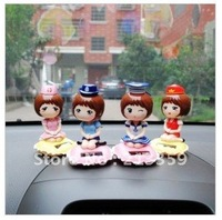 Free Shipping for Uniform Fan, Solar Energy Doll Display, Auto Accessories, Shaking His Doll 10pcs/lot+Free Shipping