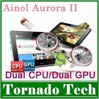 Планшетный ПК Ainol novo 7 elf II tab ] 4.0 cortex a9 dual core DDR3 1GB 8GB/16GB hdmi wifi camera HD 1024x600