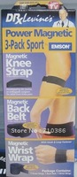 Power Magnetic 3-Pack sport,Knee strap,Back Belt,Wrist Wrap  T-168