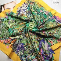 4 Colors 90x90cm 202019 2012 Newest Fashion Square Silk Scarf, Ladies' Silk Scarf, Heavy Silk Twill Square Scarf