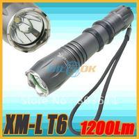1200 lumens CREE XM-L T6 Bright 5 Modes LED Aluminum Alloy Flashlight Torch
