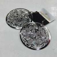 2013 Free Shipping Fashion Round Shape Metal Drop Earrings 12pairs/lot  ERH1151