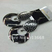 2013 Free Shipping Fashion Jewelry Metal Drop Earrings 12pairs/lot  ERH1154