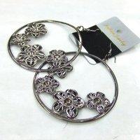 2013 Free Shipping Popular Hollow Flower Shape Metal Drop Earrings 12pairs/lot  ERH1153