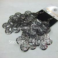 2013 12pairs/lot  Fashion Jewelry Flower Metal Drop Earrings ERH1159