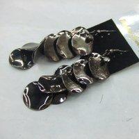 2013 Fashion Jewelry Flower Metal Drop Earrings For Women 12pairs/lot  ERH1160