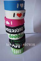 500pcs/lot,china new cheap i love doobies, BOB MARLEY,i love my BFF, ONE DIRECTION silicone bracelet mixed order , free shipping