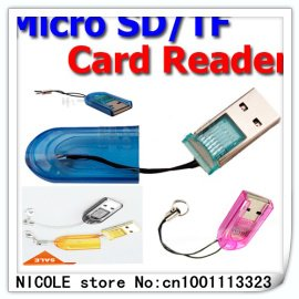 Free Shipping 50pc/lot Brand new TF micro sd card reader USB Flash 2.0 Dr