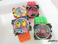 New Arrival candy stamps quartz watch colorful jelly watch 5pcs/lot free shipping
