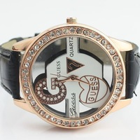 10pcs free ship fashion watches, individuality wristwatch, leather band women dress watch for ladies + free shipping