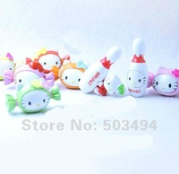 Hello Kitty PVC Figure Bowling bowl Kitty KT Collection Doll Set of 8 Free Shipping