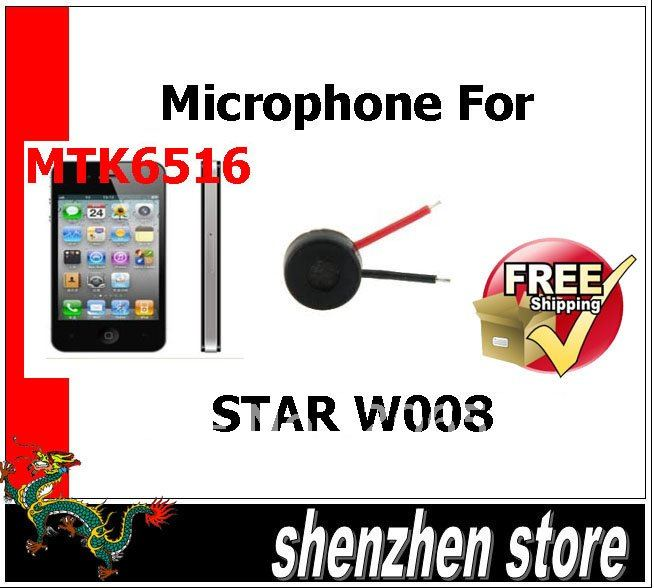 Microphone for STAR W008 Phone Part for repair mobile phone Free Ship Airmail HK(China (Mainland))