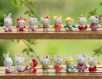 Free Shipping Hello kitty PVC Figure Doll Set of 8 Christmas Gift Wholesale 30/LOT