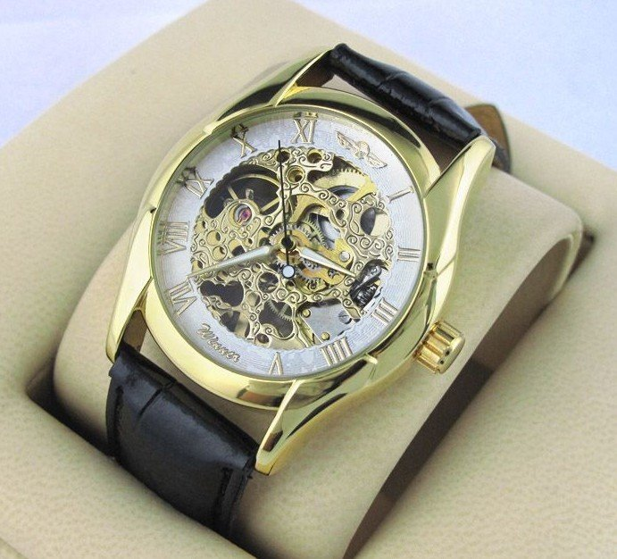 Free shipping(5 pcs/lot) New Design Silver hollow mechanical watches, Mechanical Mens Multi Function Watch NBW0HE6353-SS3,(China (Mainland))