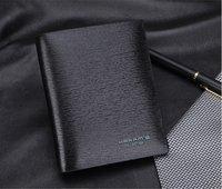 Free shipping/Brand Genuine Leather Wallet for men+designer black Real Leather bifold purse + credit card holder H057-2
