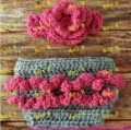 free shipping 5sets/lots baby crochet Flowers Headband and handmade Diaper Cover sets cover baby photograph use(China (Mainland))