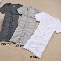 Free shipping!/-HY001-Fashion Flouncing in a long paragraph short-sleeved T-shirt/Cardigan/Hot Sale!