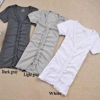 Free shipping!/-HY001-Fashion Flouncing in a long paragraph short-sleeved T-shirt/Cardigan/Hot Sale!