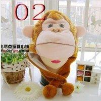 Free Shipping 50pcs/lot 2012 fashion kids hat chicken monkey animal hats caps beanie hat winter hats [A53]